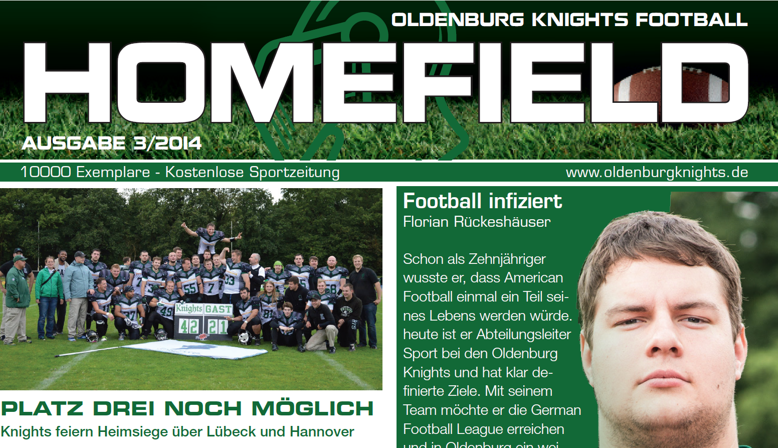 Ausgabe Knights Homefield 03/2014