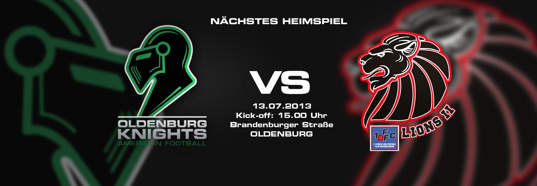 2.Heimspiel Knights vs. Braunschweig Lions II