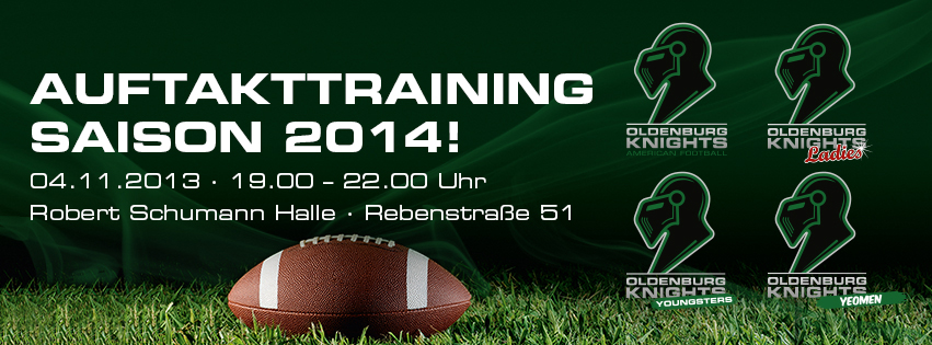 American Football Saison 2014 Auftakttraining